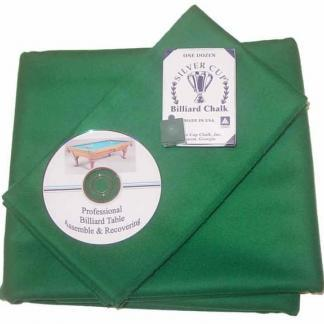 Billiard Cloth Re-felting Kit Proline Classic 303 Precut Dark Green Color | moneymachines.com