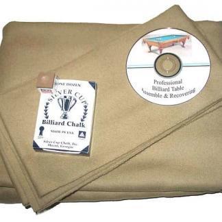 Billiard Cloth Re-felting Kit Proline Classic 303 Precut Khaki Color | moneymachines.com