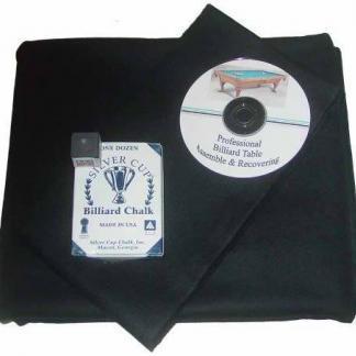 Proline Classic 303 Precut Black Color Billiard Cloth Re-felting Kit | moneymachines.com