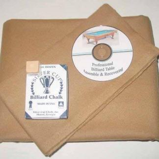 Proline Classic 303 Precut Camel Color Billiard Cloth Re-felting Kit | moneymachines.com