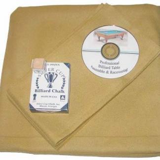 Proline Classic 303 Precut Golden Color Billiard Cloth Re-felting Kit | moneymachines.com