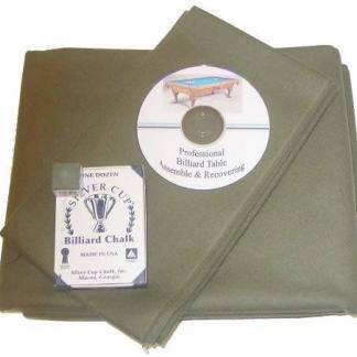 Proline Classic 303 Precut Olive Color Billiard Cloth Re-felting Kit | moneymachines.com