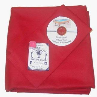 Proline Classic 303 Precut Red Color Billiard Cloth Re-felting Kit | moneymachines.com