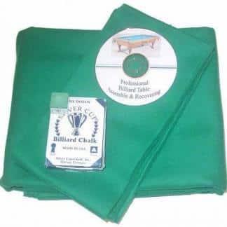 Proline Classic 303 Precut Tournament Green Color Billiard Cloth Re-felting Kit | moneymachines.com