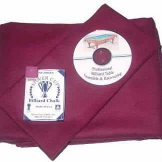 Proline Classic 303 Precut Wine Color Billiard Cloth Re-felting Kit | moneymachines.com