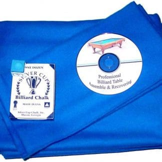Proline Classic 303 Precut Euro Blue Color Billiard Cloth Re-felting Kit | moneymachines.com