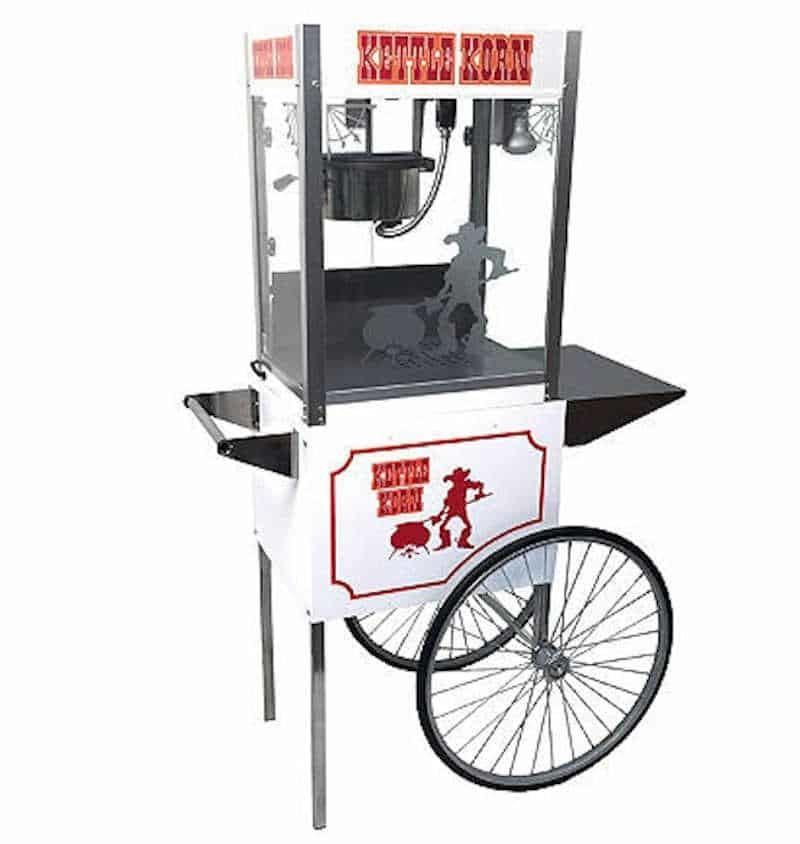 Paragon Kettle Korn 6 Ounce Popcorn Machine and Cart Combo | moneymachines.com