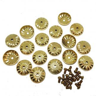 Antique Pool Table Brass Rail Cap Covers And Screws For Apron Bolt Heads | moneymachines.com